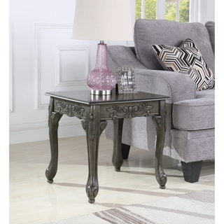 Traditional Ornate Detailing Wood End Table