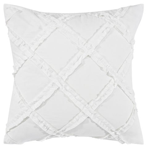 Laura Ashley Adelina White Ruffle Europeqan Sham Set
