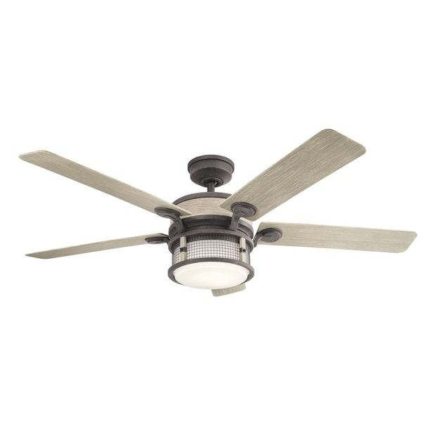Shop kichler lighting ahrendale collection 60 inch weathered zinc kichler lighting ahrendale collection 60 inch weathered zinc led ceiling fan aloadofball Gallery