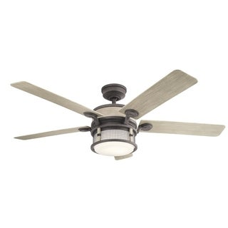 Kichler Lighting Ahrendale Collection 60-inch Weathered Zinc LED Ceiling Fan