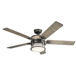Kichler Lighting Ahrendale Collection 60-inch Anvil Iron LED Ceiling Fan