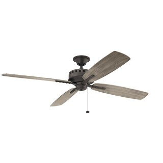 Kichler Lighting Eads Collection 65-Inch Weathered Zinc Ceiling Fan
