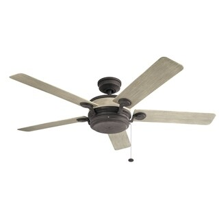 Kichler Lighting Uma Collection 60-inch Weathered Zinc Ceiling Fan