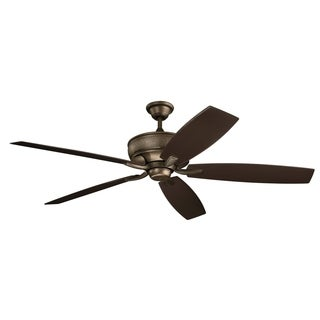Kichler Lighting Monarch Collection 70-inch Weathered Copper Powder Coat Ceiling Fan