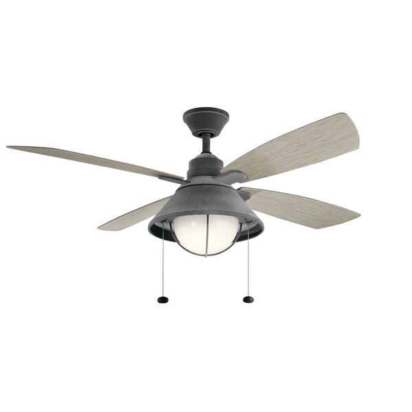 Kichler Lighting Seaside Collection 54 Inch Weathered Zinc LED Ceiling Fan