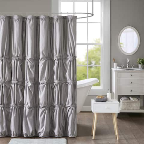 Intelligent Design Quinn Printed Shower Curtain 2 Color Options
