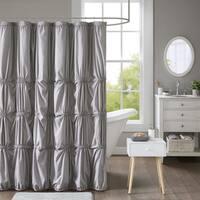 Intelligent Design Quinn Printed Shower Curtain 2 Color Options