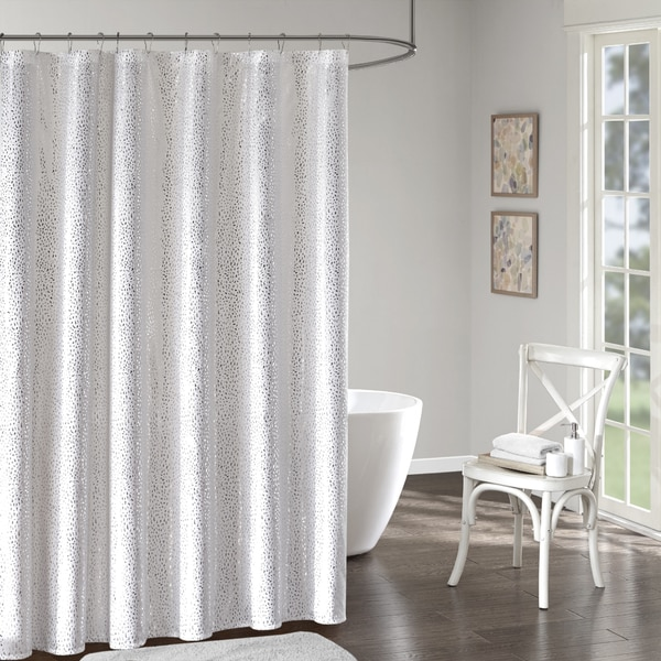 Intelligent Design Everly Printed Shower Curtain 2 Color Options