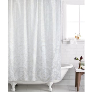 Famous Home Belle White Shower Curtain