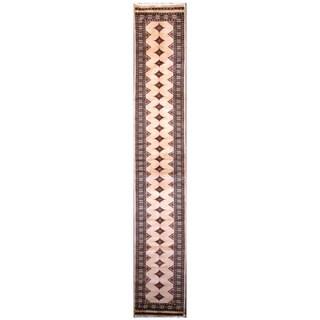 Handmade Bokhara Wool Runner (Pakistan) - 2'7 x 14'1