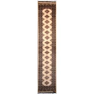 Handmade Bokhara Wool Runner (Pakistan) - 2'8 x 12'