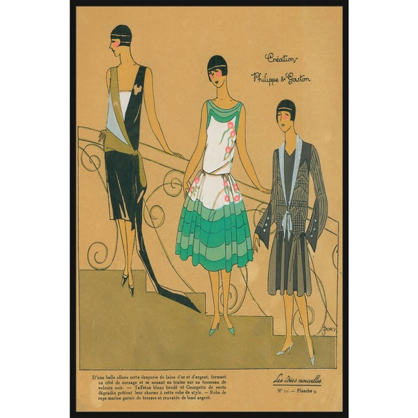 Marmont Hill - Handmade Fashion Dress Trio Floater Framed Print on Canvas