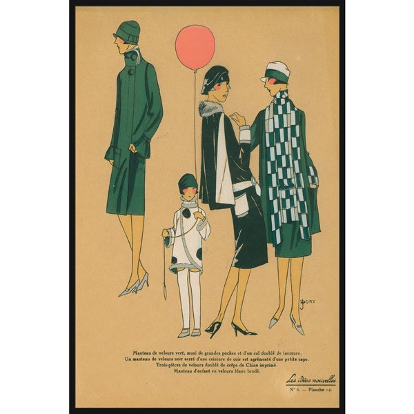 Marmont Hill - Handmade Green Fashion Floater Framed Print on Canvas