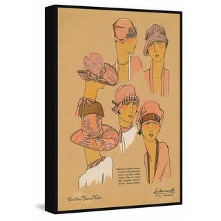 Marmont Hill - Handmade Pink Hats Floater Framed Print on Canvas