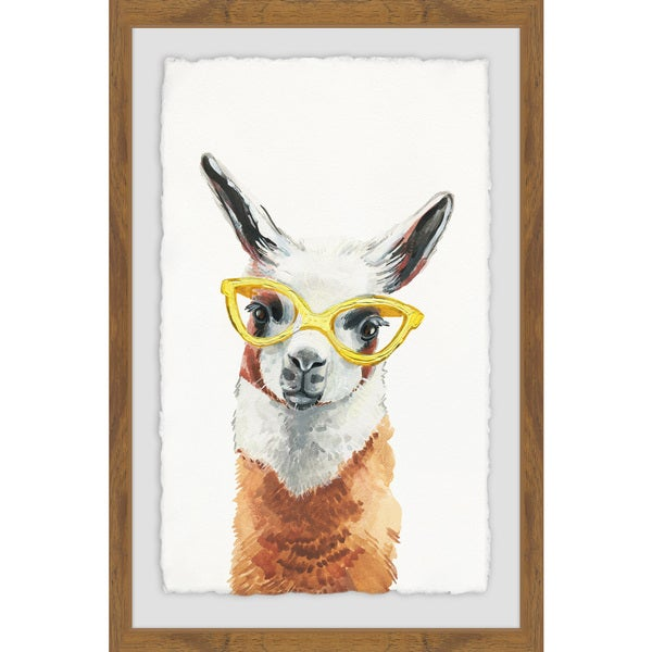 c184cdaf5af0 Shop  Yellow Sunglasses  Framed Painting Print - On Sale - Free ...