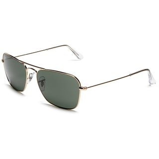 Ray-Ban Caravan Sunglasses Gunmetal Grey/ Green Classic 55mm
