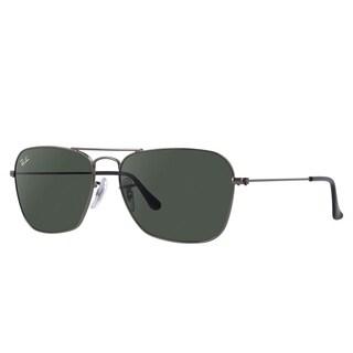 Ray-Ban Caravan Sunglasses Gunmetal Grey/ Green Classic 58mm