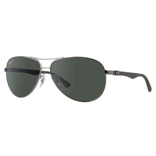 Ray-Ban RB8313 Polarized Sunglasses Gunmetal Grey/ Green Classic 61mm