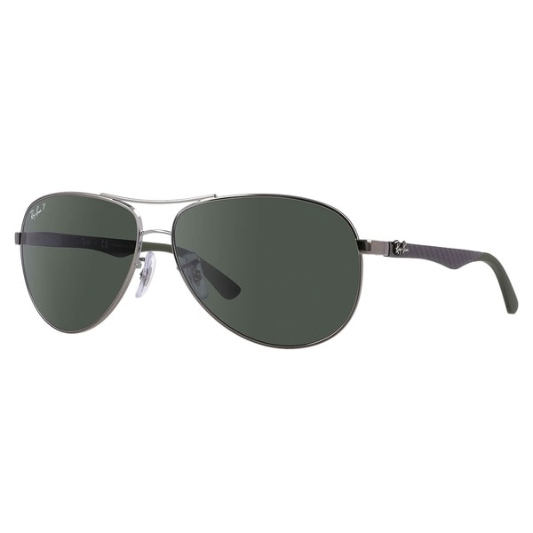 54690fe8da Shop Ray-Ban RB8313 Polarized Sunglasses Gunmetal Grey/ Green Classic 61mm  - Free Shipping Today - Overstock - 19804663