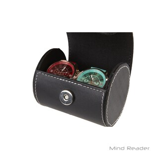 Mind Reader Triple Watch Roll Holder, Black