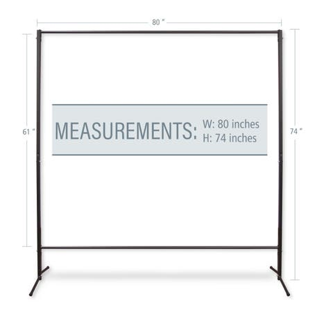 "InStyleDesign Multi-Purpose Portable Rod Stand 74"" tall, 80"" wide"