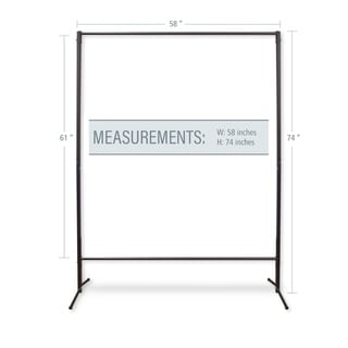 """InStyleDesign Multi-Purpose Portable Rod Stand 74"""" tall, 58"""" wide"""