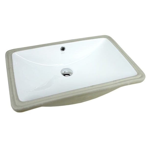 Shop Super Large Ariel 24 Inch Rectangular Undermount