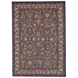 Grand Bazaar Moberly Blue/ Ivory Wool Rug - 3' x 5'