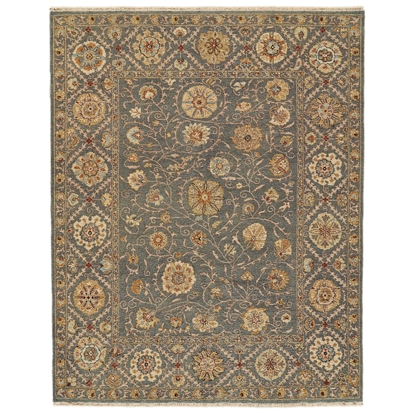 Shop Grand Bazaar Sulli Blue Cotton And Wool Area Rug 3