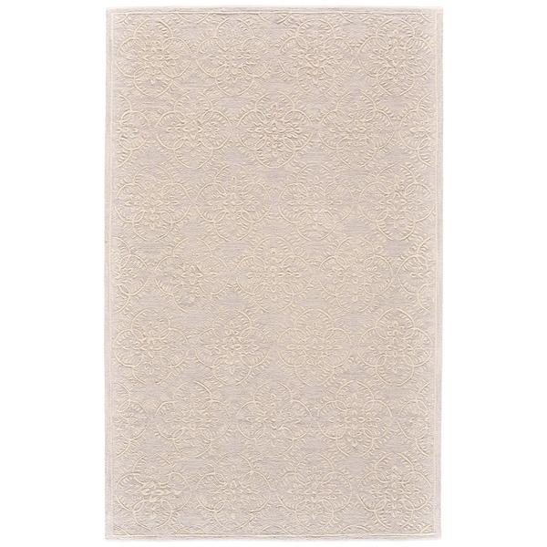 "Grand Bazaar Eckels Light Gray/ Ivory Wool Rug - 3'6"" x 5'6"""