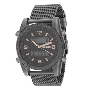 Steve Madden Analog and Digital Mesh Watch