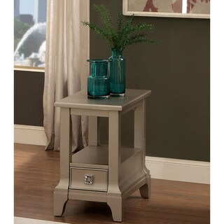 Furniture of America Buffetta Contemporary Silver 1-drawer Side Table