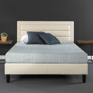 Priage Upholstered Horizontal Detailed Platform Bed