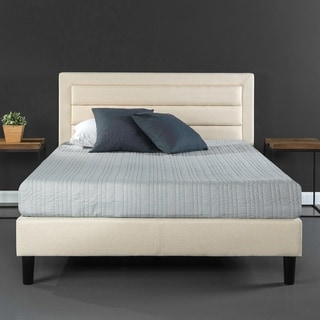 Priage by Zinus Upholstered Horizontal Detailed Platform Bed
