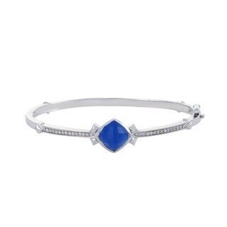 Stephen Webster Superstud Silver Diamond Agate and Quartz Bangle Bracelet