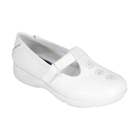 24 HOUR COMFORT Lily Women Extra Wide Width T-Strap Design Work Shoes