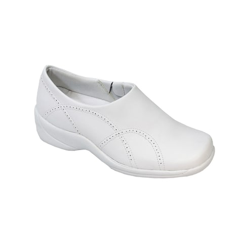 24 HOUR COMFORT Sofia Women Adjustable Wide Width Step in Work Loafers