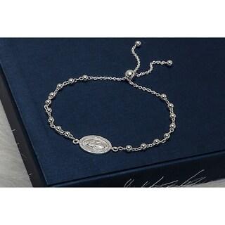 Pori Jewelers Sterling Silver Adjustbale Bracelet - White