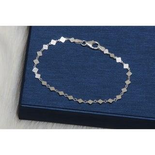 Pori Jewelers Sterling Silver Square bracelet - White