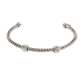 Pori Jewelers Sterling Silver Cuff Bangle - White