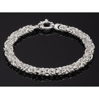 Pori Jewelers Sterling Silver Byzantino Bracelet - White