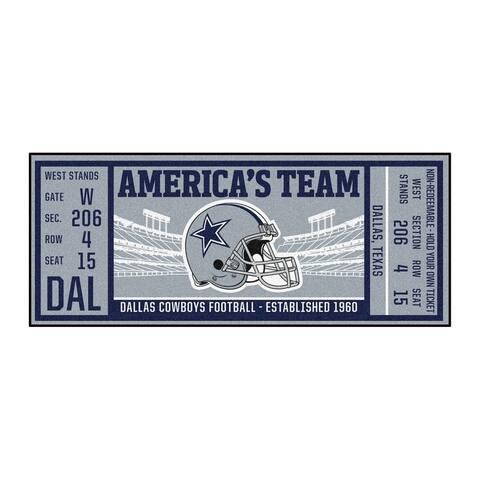 "NFL - Dallas Cowboys Ticket Runner 30""x72"""