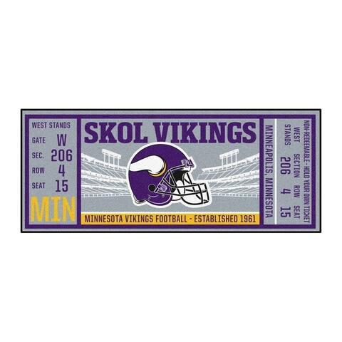 """NFL - Minnesota Vikings Ticket Runner 30""""x72"""""""