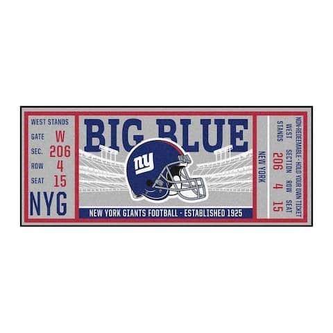 """NFL - New York Giants Ticket Runner 30""""x72"""""""