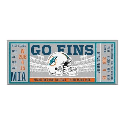 "NFL - Miami Dolphins Ticket Runner 30""x72"""
