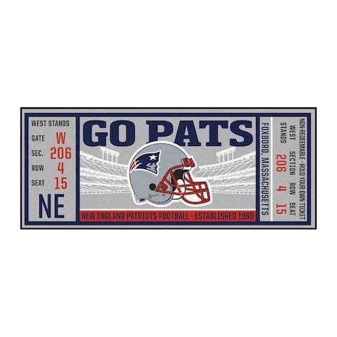 "NFL - New England Patriots Ticket Runner 30""x72"""