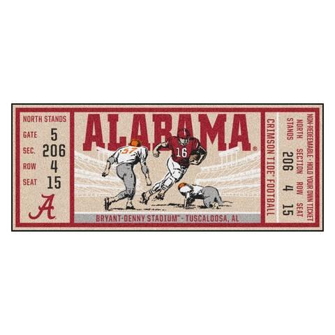 "University of Alabama Ticket Runner 30""x72"""