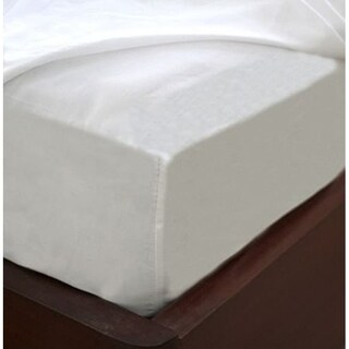 Fitted Sheet Wrinkle free, Pimple free, White Cotton Blend Fitted Sheet Easy Care & Soft