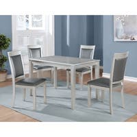 Silver Orchid Olivia 5-piece Contemporary Simplicity Dining Set with 4 Chairs