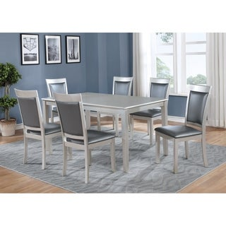 Avignor 7-Piece Contemporary Simplicity Dining Set with 6 Chairs